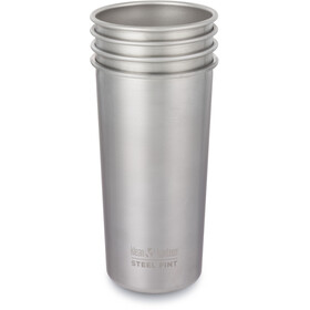 Klean Kanteen Pint Cup 592ml 4Pack, brushed stainless